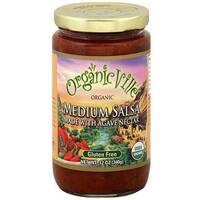 OrganicVille Organic Salsa, Medium Agave Nectar, 12-Ounce (Pack of 6)