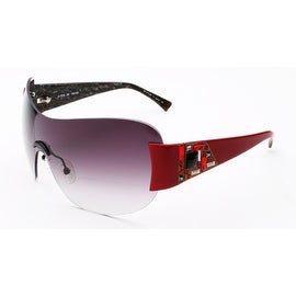 Judith Leiber Women's Mosaic Shield Sunglasses Ruby/Marble - Small