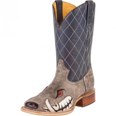 Tin Haul Western Boots Men Not Boaring Tough Brown