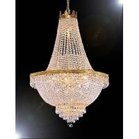 Swarovski Crystal Trimmed Chandelier Lighting H24 x W24