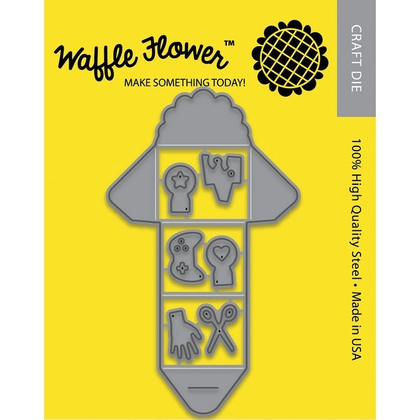 Waffle Flower Die-Mini Trifold Notes
