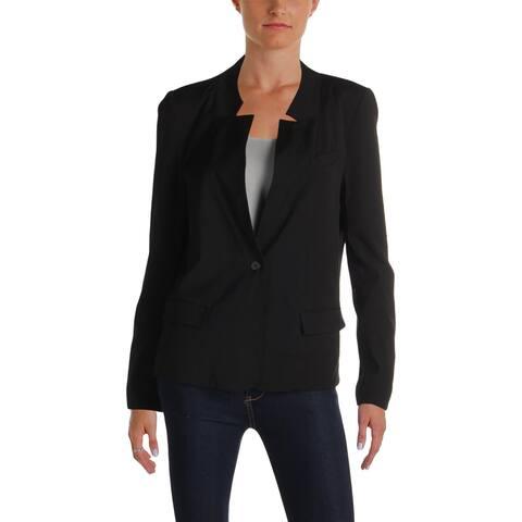 Aqua Womens One-Button Blazer Notch Collar Professional