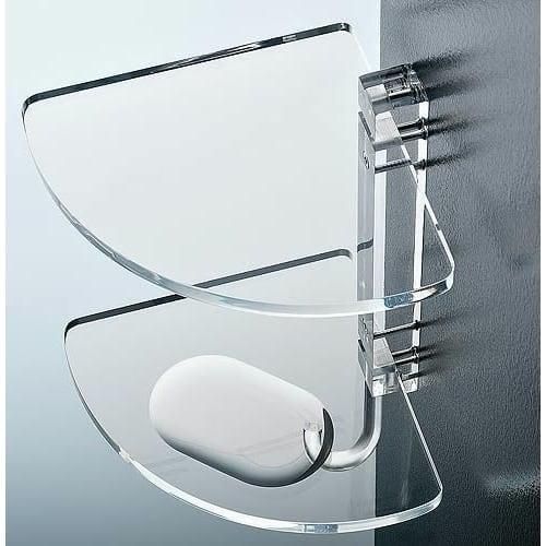 Nameeks 0605 Toscanaluce Collection Glass Bathroom Shelf - Transparent