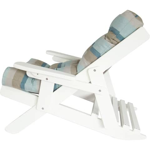 Folding and Reclining Siesta Chair - Bright White Recycled Plastic/Poly Lumber