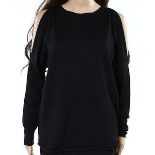 John + Jenn Womens Split-Sleeve Pullover Sweater