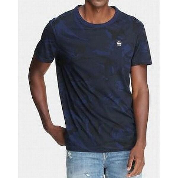 G Star Raw Black Mens Small Printed Crewneck Tee T Shirt