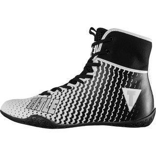 Title Boxing Predator II Lightweight Mid-Length Boxing Shoes - White/Black