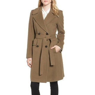 Diane von Furstenberg Khaki Wool Wrao Coat