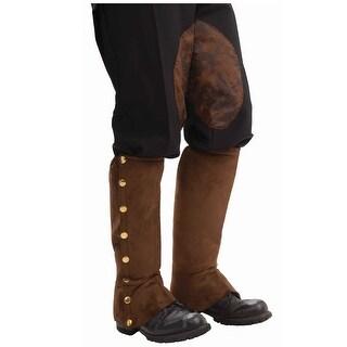 Steampunk Suede Shoe Spats