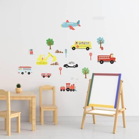 Walplus Happy Cars Kids Children Wall Sticker Nursery Decor Decal