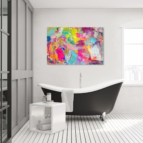 Oliver Gal 'Miami Beach' Abstract Wall Art Canvas Print Textures - Pink, Gold