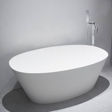 AOOLIVE Single Handle Floor Mounted Freestanding Tub Filler