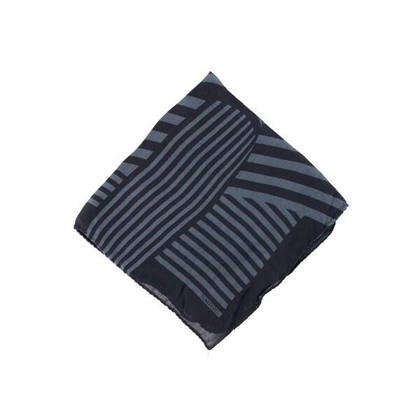Tom Ford Mens Black Grey Floral Silk Pocket Square