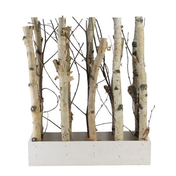 """18.75"""" Mixed Branch Bouquet in White Wood Box Table Top Decoration - N/A"""