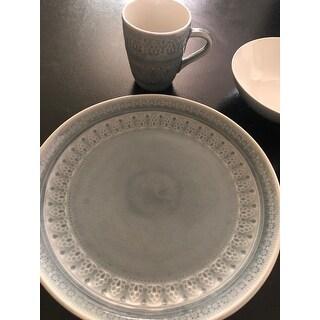 Euro Ceramica Fez 16 Piece Crackleglaze Dinnerware Set (Service for 4)