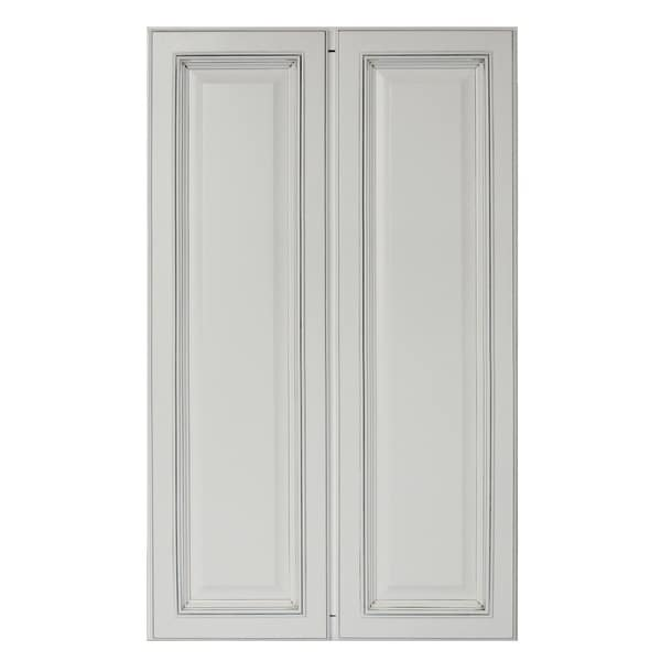 """Sunny Wood SLP2442T-A Sanibel 24"""" Wide x 42"""" High Double Door Pantry Cabinet - Off White with Charcoal Glaze"""