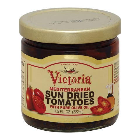 Victoria Sun Dried Tomatoes with Olive Oil - Case of 12 - 7.5 oz.