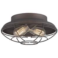 "Millennium Lighting 5382 Neo-Industrial 2-Light 12"" Wide Flush Mount Ceiling Fixture - N/A"