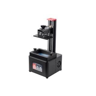 Monoprice Mini Deluxe SLA LCD High Resolution Resin 3D Printer + 250ml Red Resin