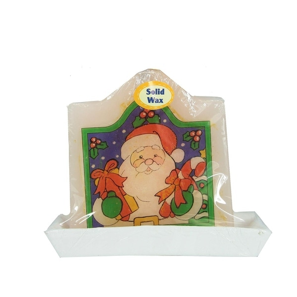 "4.25"" Decorative Santa Claus Christmas Candle with Real Wax"