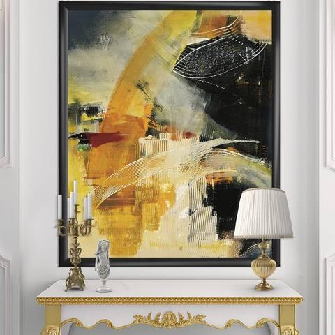 Designart 'End of the Orange Rainbow II' Modern & Contemporary Framed Art Print