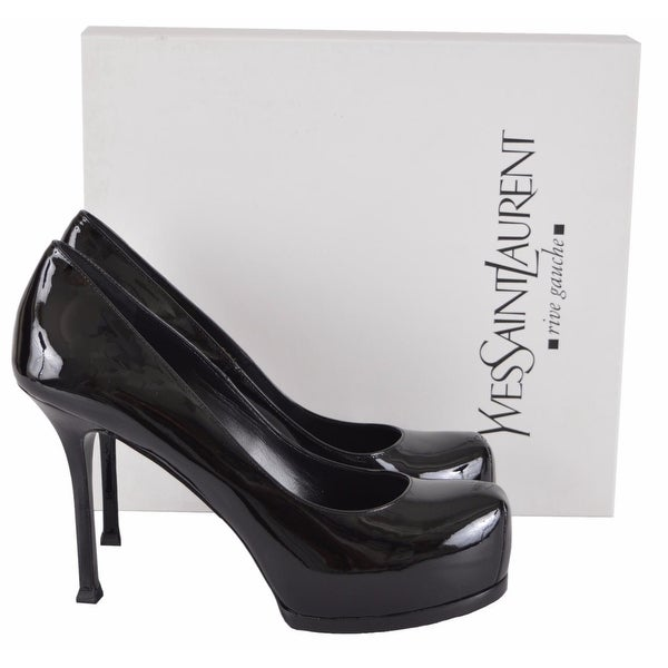 52780364 Shop YSL Saint Laurent 209947 Patent Leather Tribtoo 80 Platform ...