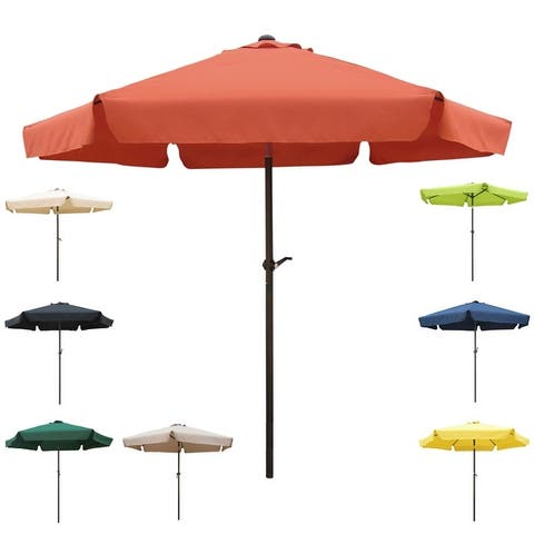 International Caravan St. Kitts 8 ft. Patio Umbrella with Flaps