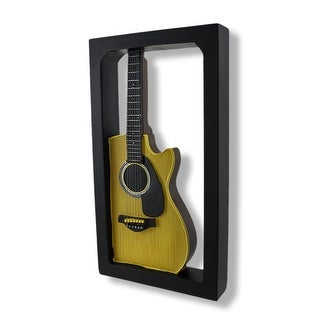 Classic Acoustic Guitar Shadow Box Wall Plaque