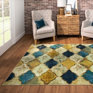 Link to Mohawk Home Hamilton Gold Area Rug (8' x 10') - 8' x 10' Similar Items in Rugs