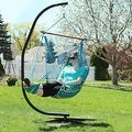 Sunnydaze Hanging Soft Cushioned Hammock Chair with Footrest - Thumbnail 8