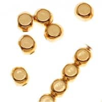 22K Gold Plated Square Rounded Beads 4mm (x100)