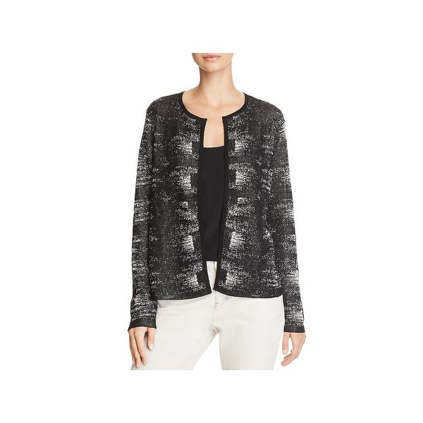 Eileen Fisher Womens Cardigan Top Heathered Open Front