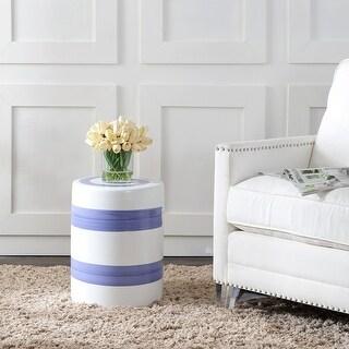 Link to Safavieh Hael Stripe Ceramic Decorative Garden Stool Similar Items in Outdoor Decor