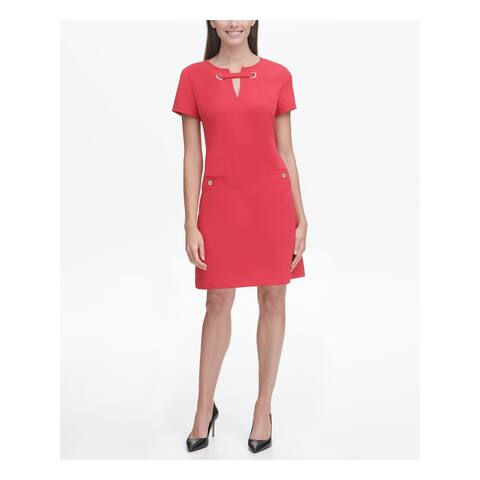 TOMMY HILFIGER Red Short Sleeve Above The Knee Dress 4