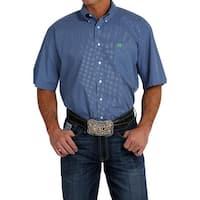 Cinch Western Shirt Mens Short Sleeve Button Pocket Royal