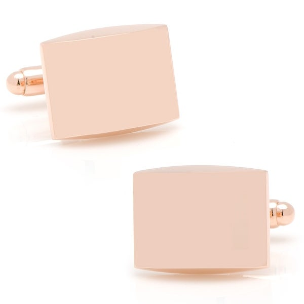 Curved Rose Gold Cufflinks