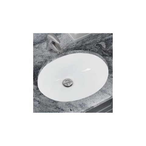 "Miseno MNO1512 17"" Undermount Bathroom Sink with Overflow (Mounting - White"