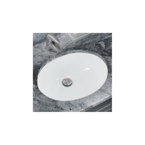 """Miseno MNO1512 15"""" Undermount Bathroom Sink with Overflow (Mounting Clips Included)"""