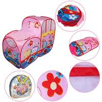 Costway Kids Baby Play Tent Train Colorful In/Outdoor Portable Foldable Children Gift - Pink