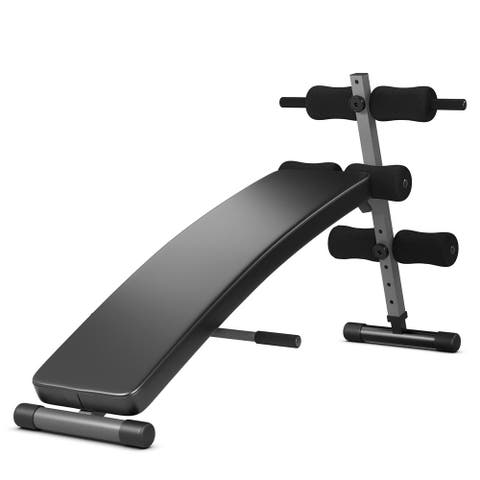 Adjustable Arc-Shaped Decline Sit up Slant Bench Crunch Board Fitness - See Details