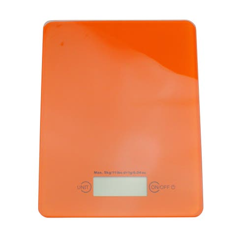 Battery Powered Digital Food Scale with Glass Top - N/A
