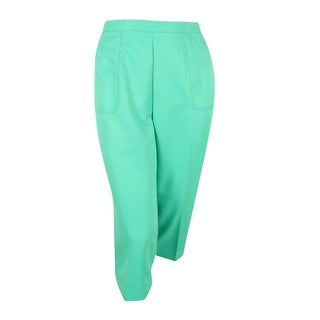 Alfred Dunner Women's Plus Size Acapulco Solid Capri (16W, Mint) - Mint - 16W