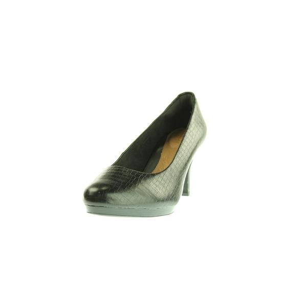 Clarks Womens Tempt Appeal Heels Leather Round Toe - 7 medium (b,m)