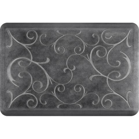"WellnessMats Estates Bella Anti-Fatigue Office, Bathroom, & Kitchen Mat, Onyx, 36"" by 24"""