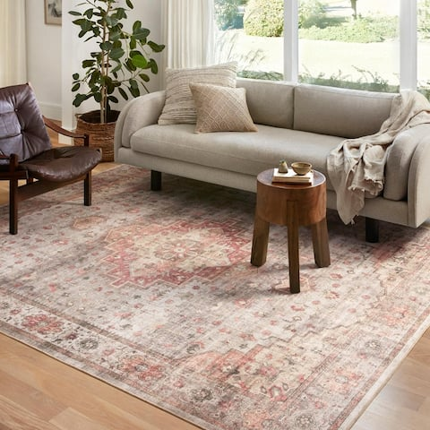 Alexander Home Meghan Vintage Traditional Distressed Area Rug