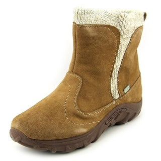 Merrell Jungle Moc Boot Youth Round Toe Suede Brown Boot