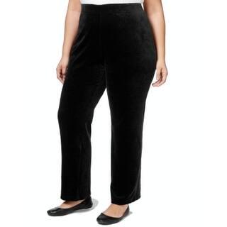 Karen Scott NEW Black Womens Size 1X Plus Straight Leg Velour Pants|https://ak1.ostkcdn.com/images/products/is/images/direct/31e2ea88894f680d90bd9c07b3cc805a4a8fdbbd/Karen-Scott-NEW-Black-Womens-Size-1X-Plus-Straight-Leg-Velour-Pants.jpg?impolicy=medium