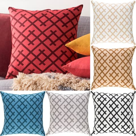 Decorative Water 18-inch Down or Poly Filled Pillow