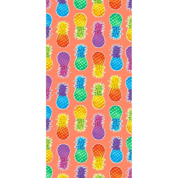 Colorful Pineapples 30x60 Brazilian Velour Beach Towel. Opens flyout.