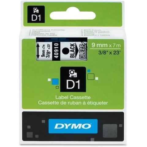 Dymo 40910 black print/ clear tape, 3/8 x 23